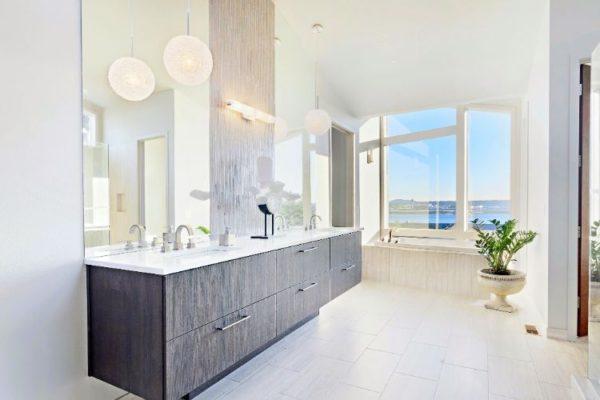 Horizontal grey cabinets