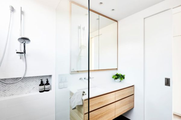 Wooden two shelf corner cabinets