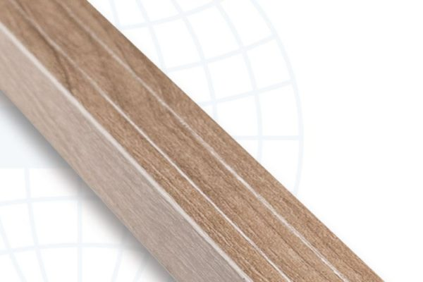 Solid brown rod tile accessories