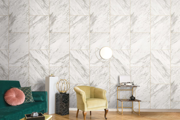 Rectangular boxes grey wallpaper
