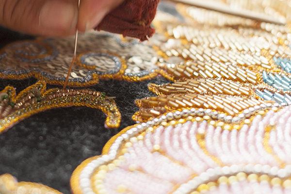 Hand beaded wallpaper Arusha