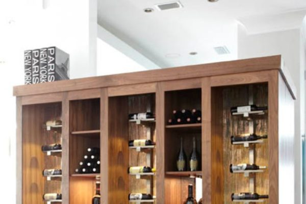 Wine rack wall cabinet
